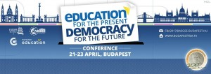 Franck Biancheri Award: Education for the present, Democracy for the future. Budapest, April 21-23