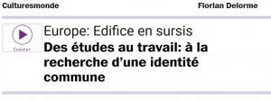 "Talking about Erasmus on France Culture, inevitably reminds Franck Biancheri. Listen to ""Europe: building in suspension"" (17/02/2016)"