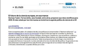 "[new in our archives] Reto2030 ""El futuro de la ciencia europea, en sus manos"" (the future of European sciences in their hands) El Pais, 28/04/2010"