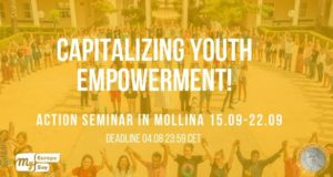 Event: Capitalizing youth empowerment! Action seminar 15th-22nd September 2019, Mollina, Spain