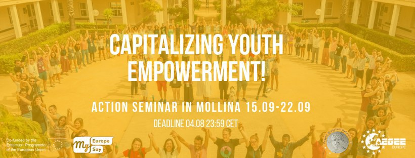Evènement: Capitalizing youth empowerment! Action seminar 15th-22nd September 2019, Mollina, Spain (anglais)
